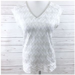 ❤️ The Limited Overlay Knit Cap Sleeve Top EUC XS
